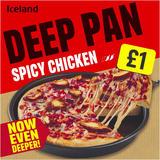 Iceland Deep Pan Spicy Chicken Pizza 397g