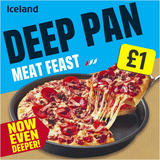Iceland Deep Pan Spicy Meat Feast Pizza 376g