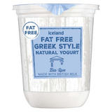 Iceland Fat Free Greek Style Natural Yogurt 500g