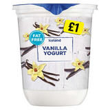 Iceland Fat Free Vanilla Yogurt 500g