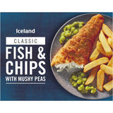Iceland Fish and Chips with Mushy Peas 400g