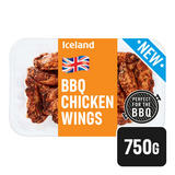 Iceland Fresh British BBQ Chicken Wings 750g