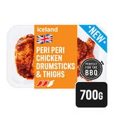 Iceland Fresh British Piri Piri Chicken Drumsticks and Thighs 700g