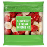 Iceland Frozen Strawberry & Banana Smoothie Mix 500g