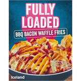 Iceland Fully Loaded BBQ Bacon Waffle Fries 510g