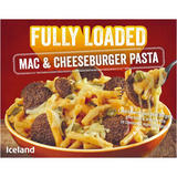 Iceland Fully Loaded Mac and Cheeseburger Pasta 530g