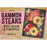 Iceland Gammon Steaks with Cheese & Pineapple 345g