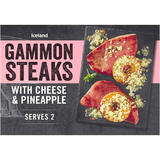 Iceland Gammon Steaks with Cheese and Pineapple 345g