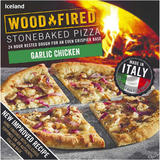 Iceland Garlic Chicken Stonebaked Pizza 338g