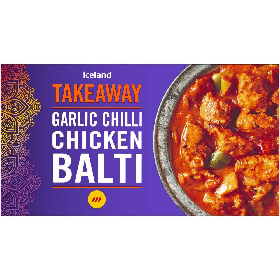 Iceland Garlic Chilli Chicken Balti 375g Indian Iceland