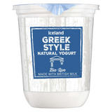 Iceland Greek Style Bio-Live Natural Yogurt 500g