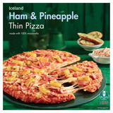 Iceland Ham & Pineapple Thin Pizza 345g