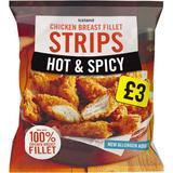 Iceland Hot & Spicy Chicken Breast Fillet Strips 600g