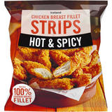Iceland Hot and Spicy Chicken Breast Fillet Strips 600g