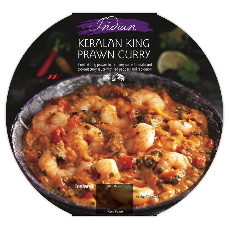 Iceland Indian Keralan King Prawn Curry 400g Indian