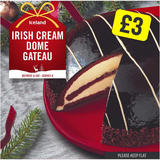Iceland Irish Cream Dome Gateau 555g