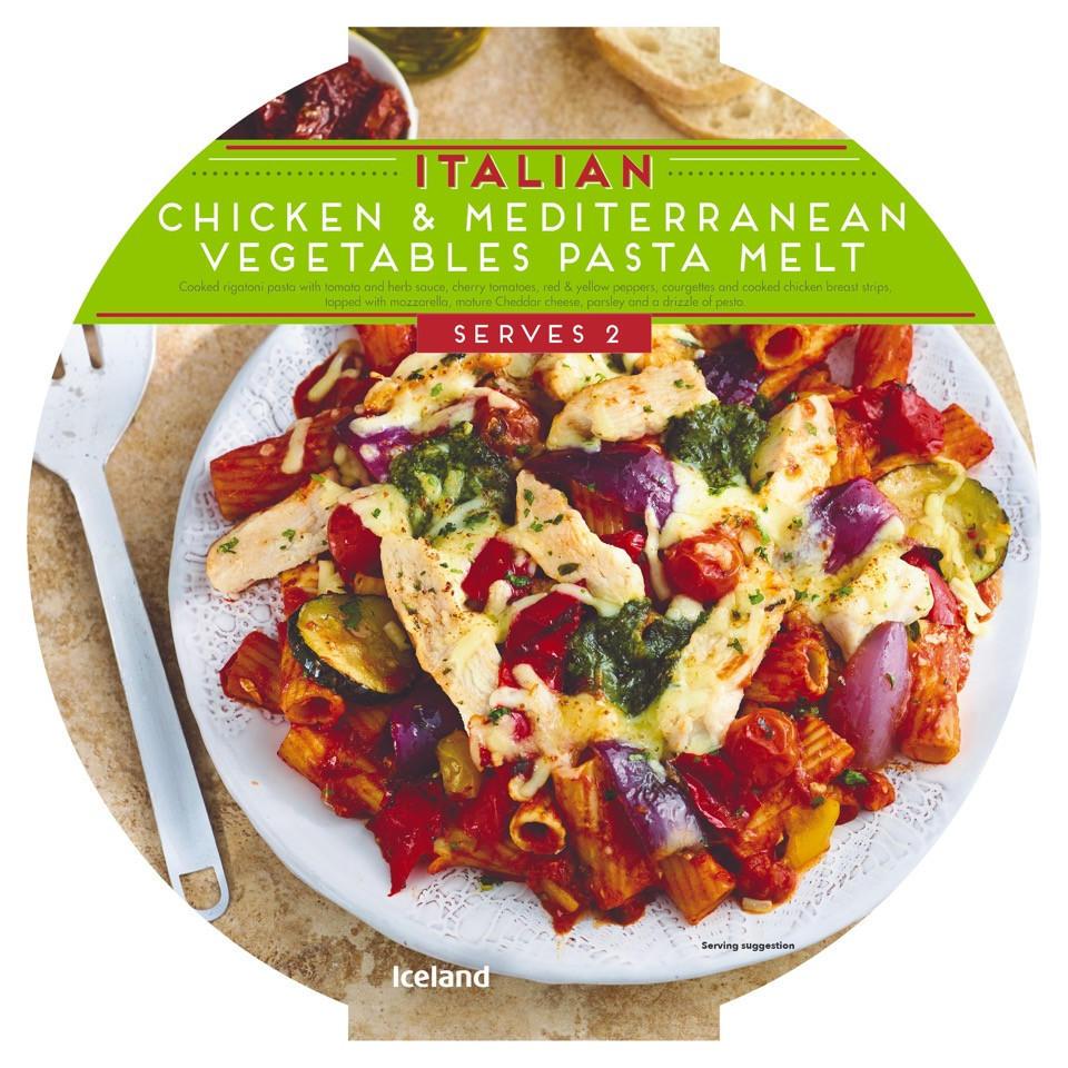 Iceland Italian Chicken Mediterranean Vegetables Pasta