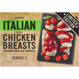Iceland Italian Style Chicken Breasts with Mozzarella & Tomatoes 396g