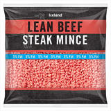 Iceland Lean Beef Steak Mince 475g