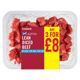 Iceland Lean Diced Beef 350g