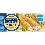 Iceland Lemon & Herb Tempura 2 Basa Skinless Boneless Fillets 320g