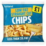 Iceland Low Fat Straight Cut Chips 1.2kg