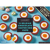 Iceland Luxury 12 Belgian Chocolate Easter Egg Cups 232g