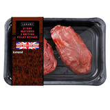 Iceland Luxury 21 Day Matured 2 British Fillet Steaks 340g