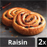 Iceland Luxury 2 All Butter Puff Pastry Pains aux Raisins