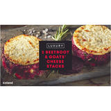 Iceland Luxury 2 Beetroot and Goats' Cheese Stacks 280g