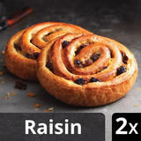 Iceland Luxury 2 Butter Puff Pastry Pains Aux Raisins