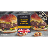 Iceland Luxury 2 Cheeky Cheese Burgers 284g
