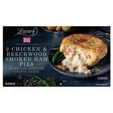 Iceland Luxury 2 Chicken And Beechwood Smoked Ham Pies 440g