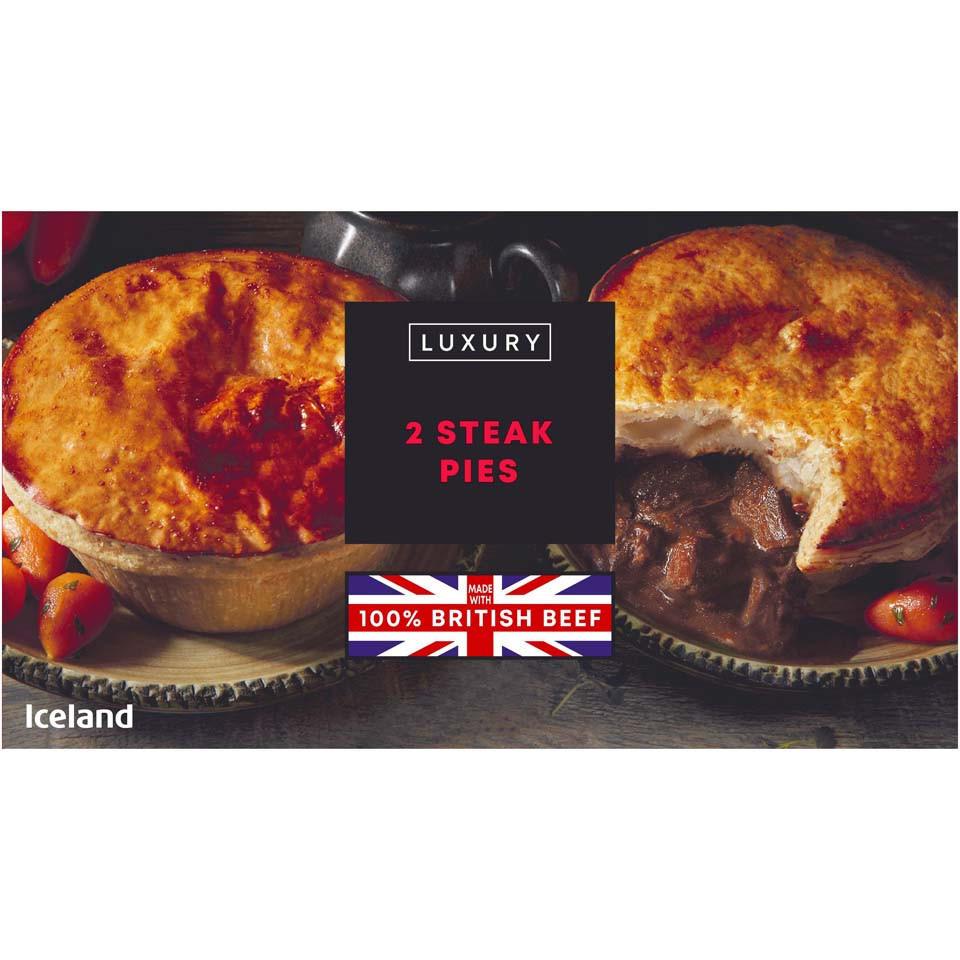 Iceland Luxury 2 Steak Pies 440g | Pies & Puddings ...