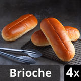Iceland Luxury 4 Sliced Brioche Hotdog Rolls