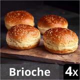 Iceland Luxury 4 Sliced Seeded Brioche Burger Buns