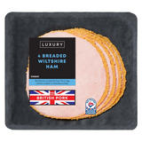 Iceland Luxury 4 Slices Breaded Wiltshire Ham 100g