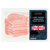 Iceland Luxury 6 Dry Cured Unsmoked Back Bacon 180g