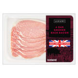Iceland Luxury 6 Oak Smoked Back Bacon 180g