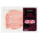 Iceland Luxury 6 Oak Smoked Back Bacon 180g