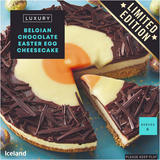 Iceland Luxury Belgian Chocolate Easter Egg Cheesecake 390g