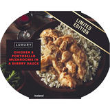 Iceland Luxury Chicken & Portobello Mushrooms in a Sherry Sauce 450g