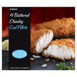 Iceland Luxury Chunky Cod Fillets in Crispy Batter 500g