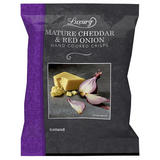 Iceland Luxury Mature Cheddar & Red Onion Hand Cooked Crisps 180g