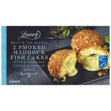 Iceland Luxury Melt In Middle 2 Smoked Haddock Fish Cakes With A Cheddar With A cheddar Cheese & Parsley Sauce 260g