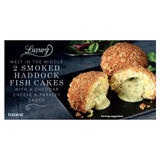 Iceland Luxury Melt in the Middle 2 Smoked Haddock Fish Cakes with a Cheddar Cheese & Parsley Sauce 260g