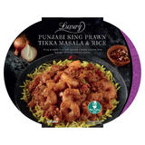Iceland Luxury Punjabi King Prawn Tikka Masala & Rice 450g