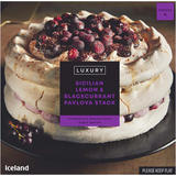 Iceland Luxury Sicilian Lemon & Blackcurrant Pavlova Stack 560g
