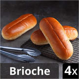 Iceland Luxury Sliced Brioche Hotdog Rolls 4 pack