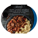 Iceland Luxury Slow Cooked Steak & Chianti with Vintage Cheddar Mash 450g